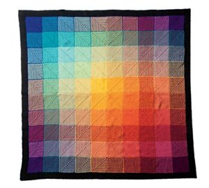 rainbow afghan knitting kit