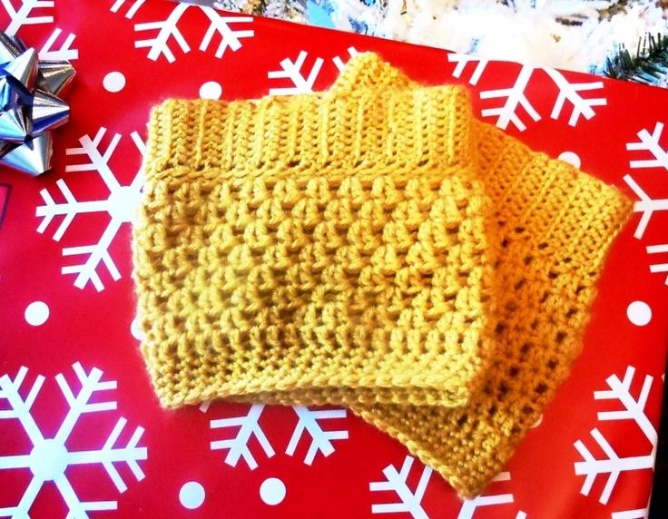 Crochet Boot Cuff Pattern Yellow