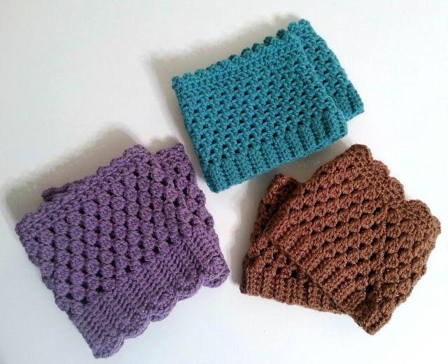 Crochet Pattern for Boot Cuffs