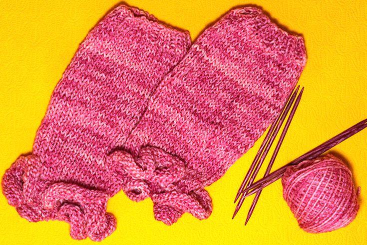 Crochet Ruffled Leg Warmers