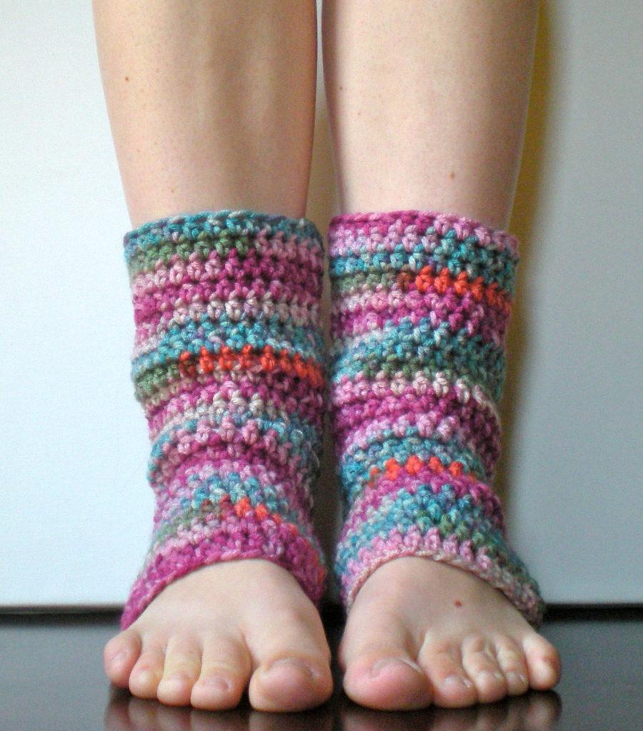 Crochet Striped Leg Warmers Pattern