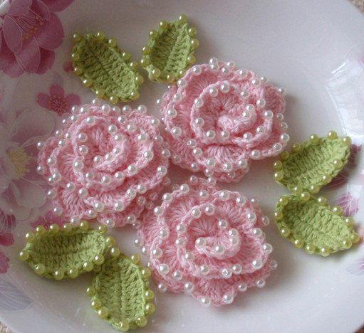 Crochet Valentine Roses