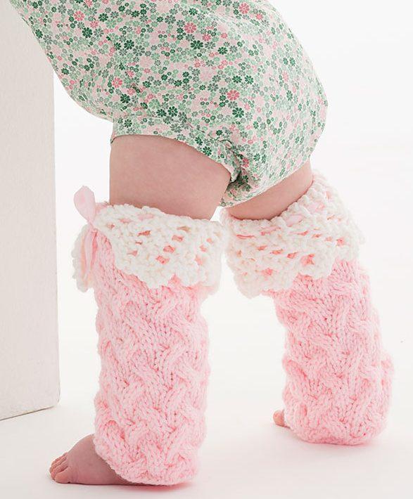 DIY Pattern for Infant Crochet Leg Warmers