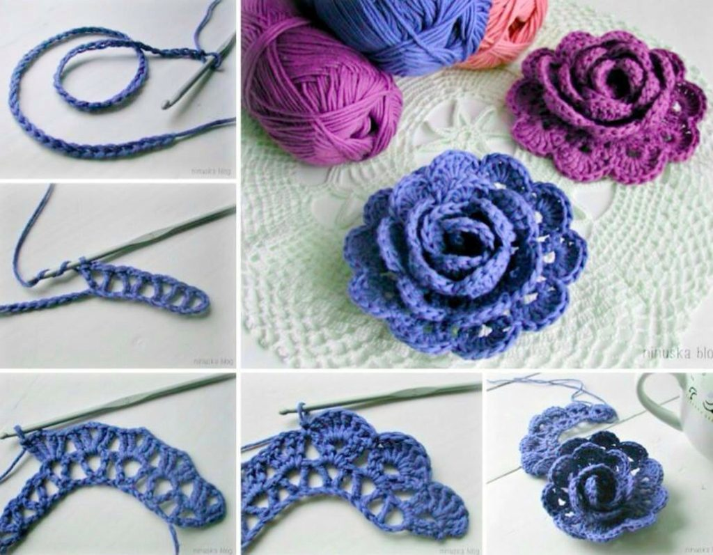 Easy Crochet Rose Pattern