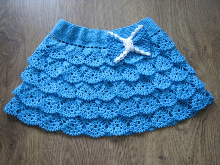 Flamboyant Crocheted Skirt
