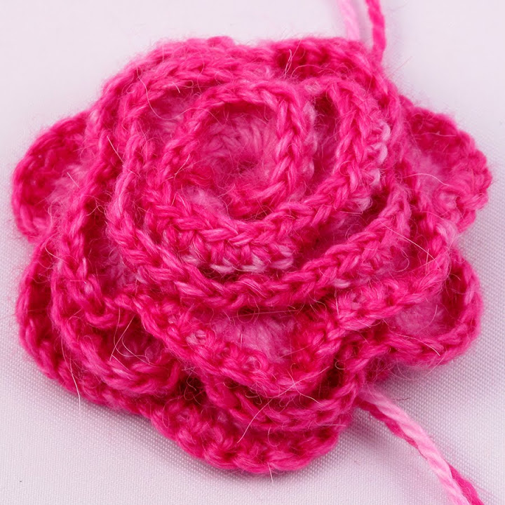 Flared Crochet Rose Design