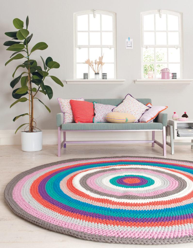 Giant Crochet Doily Rug Pattern