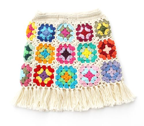 Granny Square Crochet Skirt Pattern