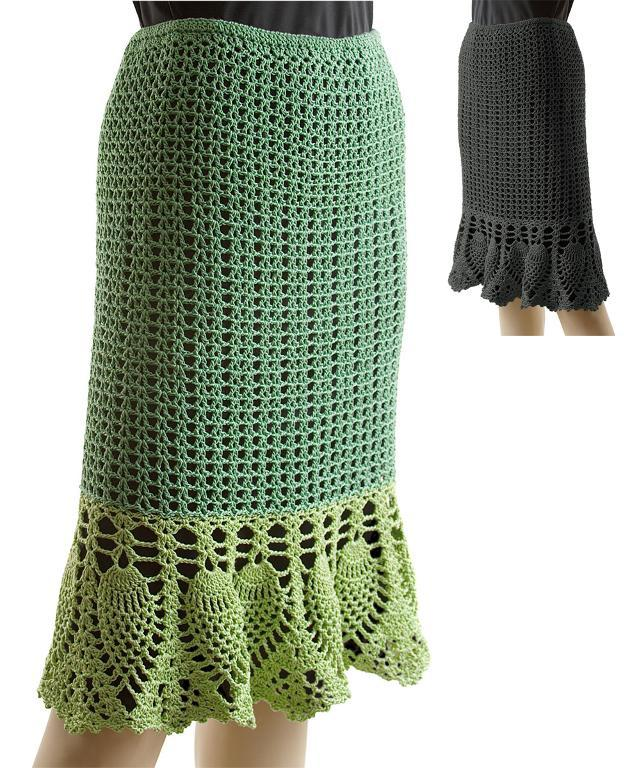 Illustration of Crochet Skirt Pattern