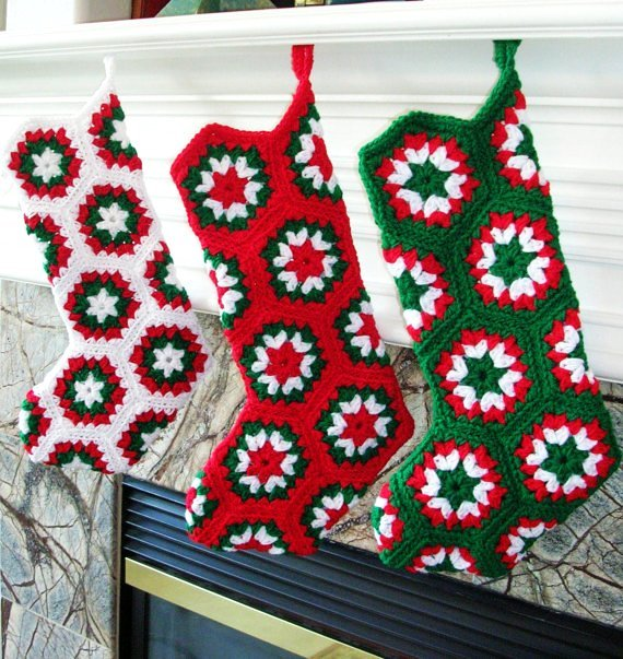 Kaleidoscopic Crochet Christmas Stocking