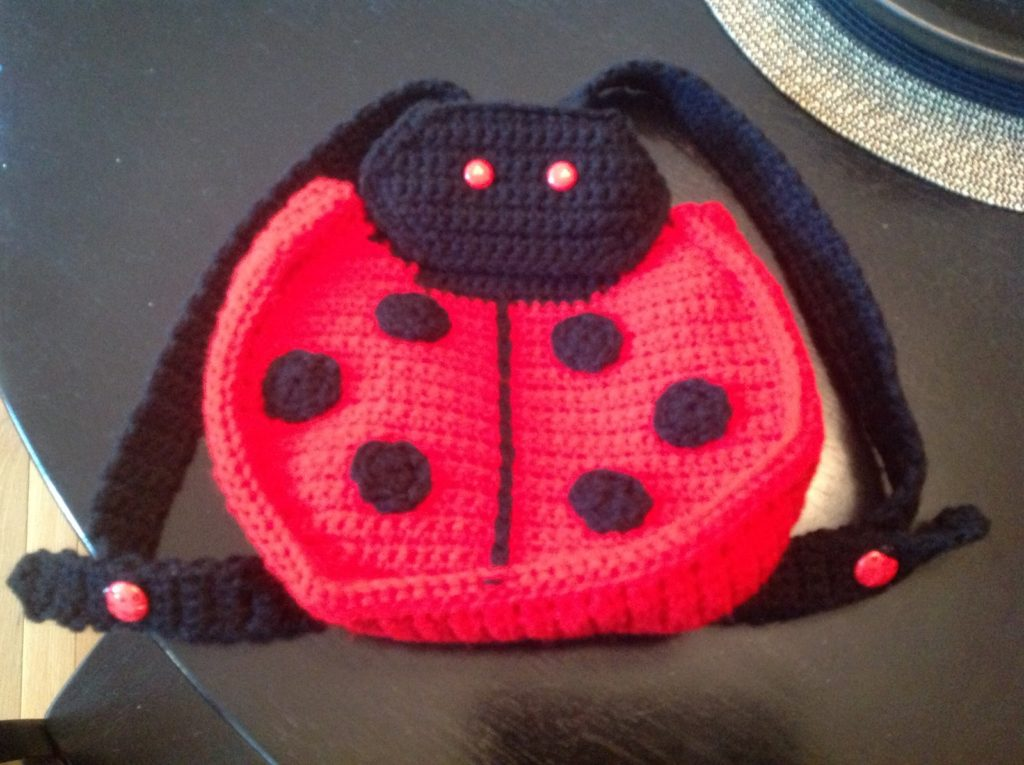 Ladybug Crochet Backpack for Babies