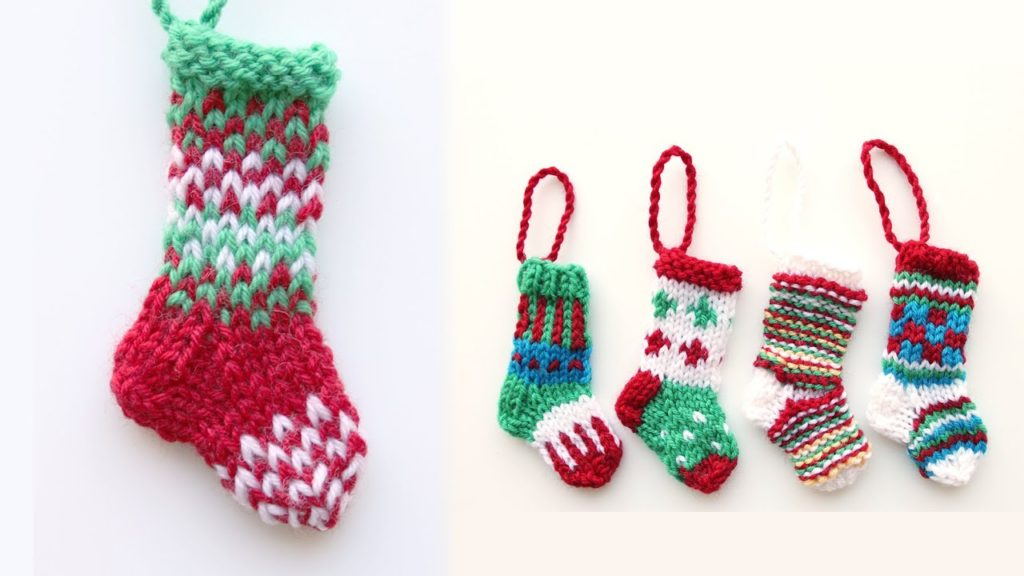 Miniature Crochet Christmas Stockings