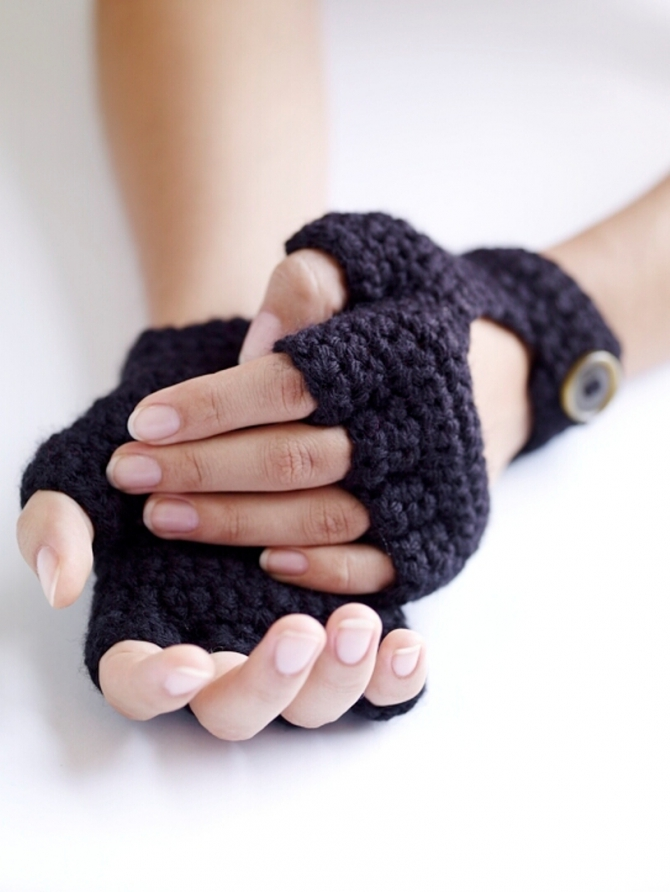 Open Fingerless Driving Gloves