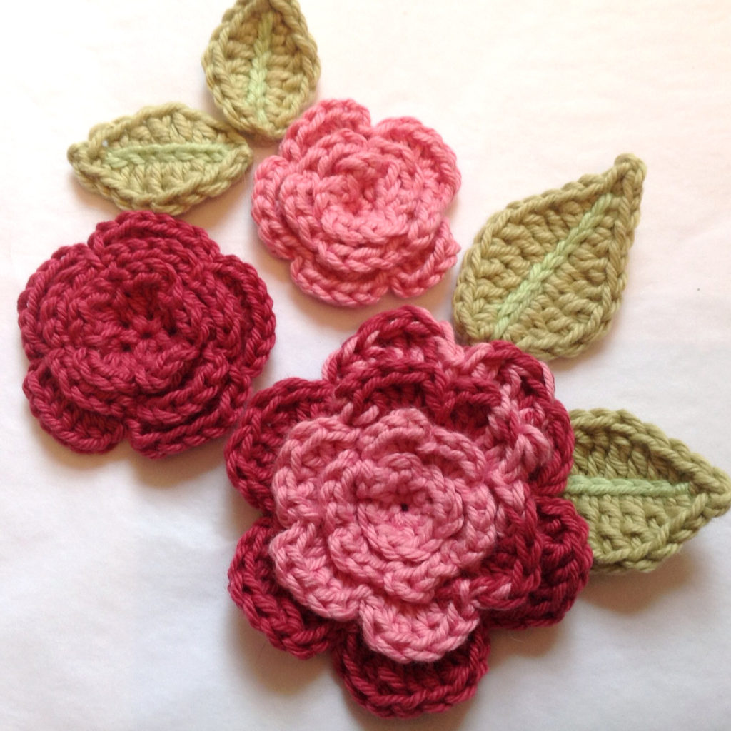 Pattern for Crochet Rose Leaves