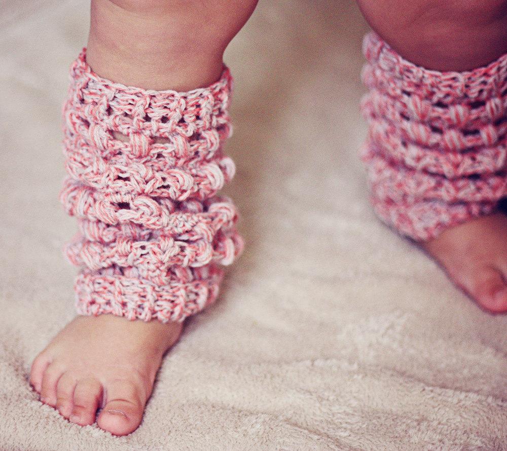 Picot Crochet Baby Leg Warmers Pattern
