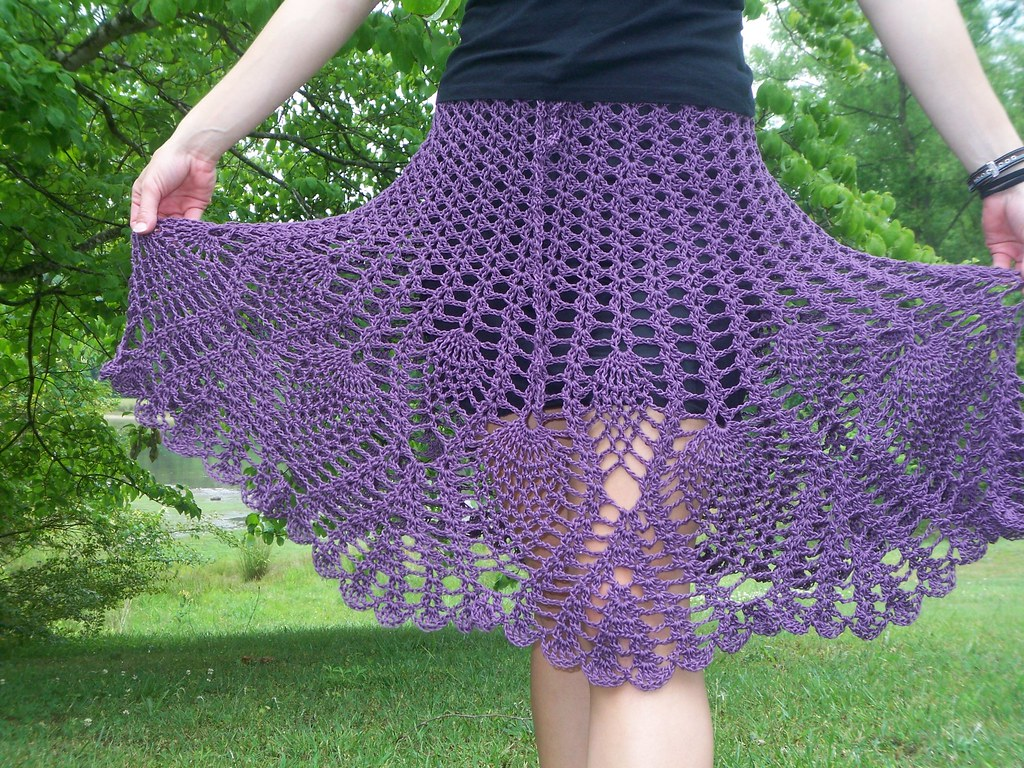 Pineapple Patterned Crochet Skirt