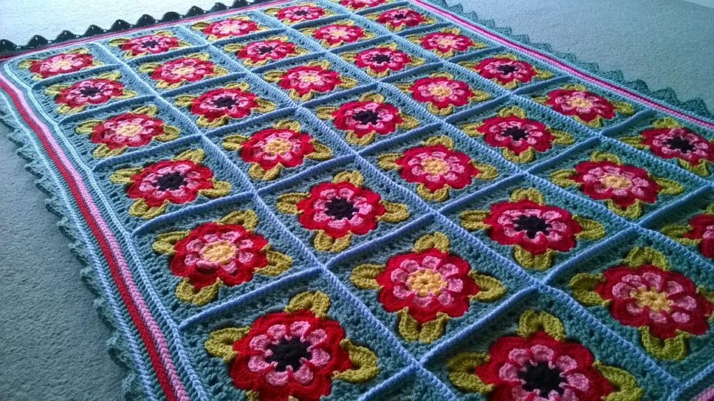 Rose Crochet Blanket