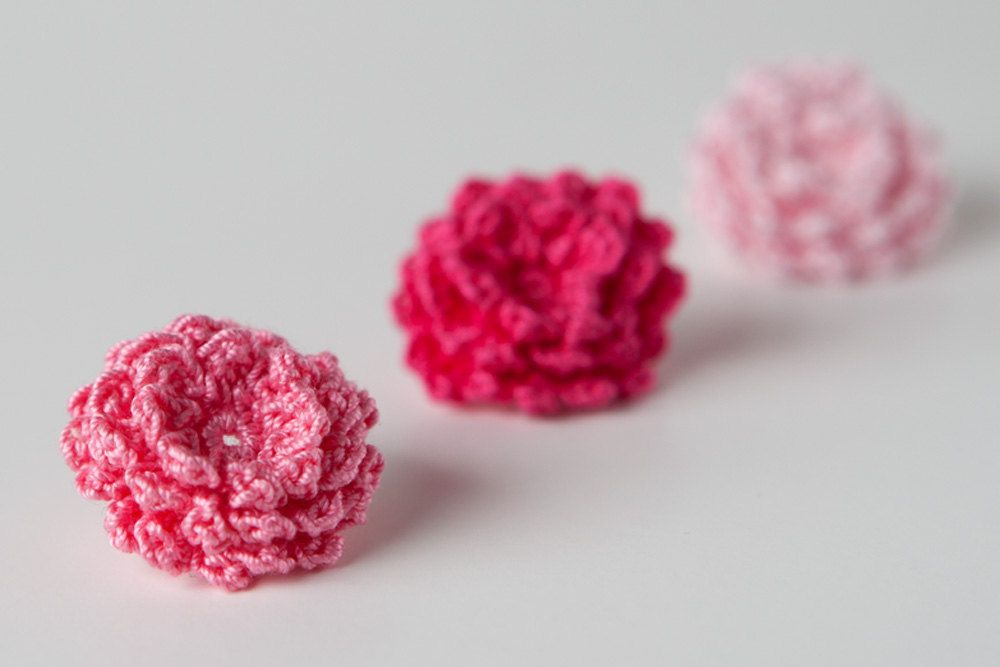 Small Crochet Rose Pattern