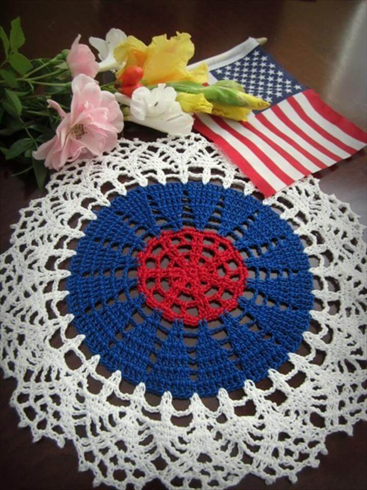 4th of July doily