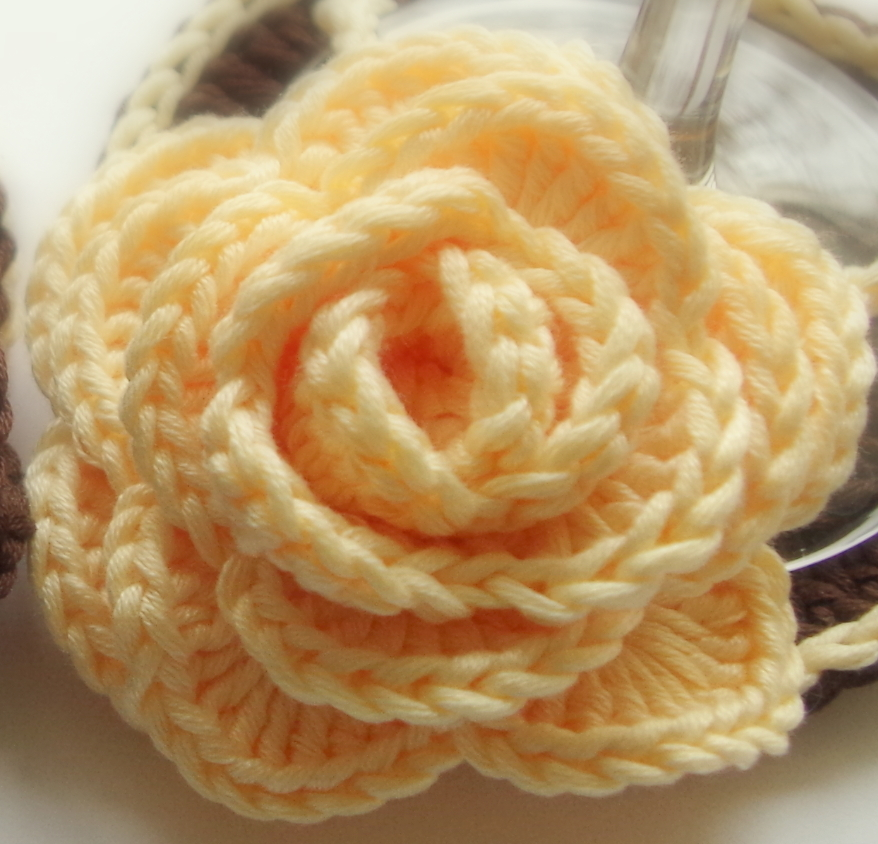 Yellow Crochet Rose No Sew