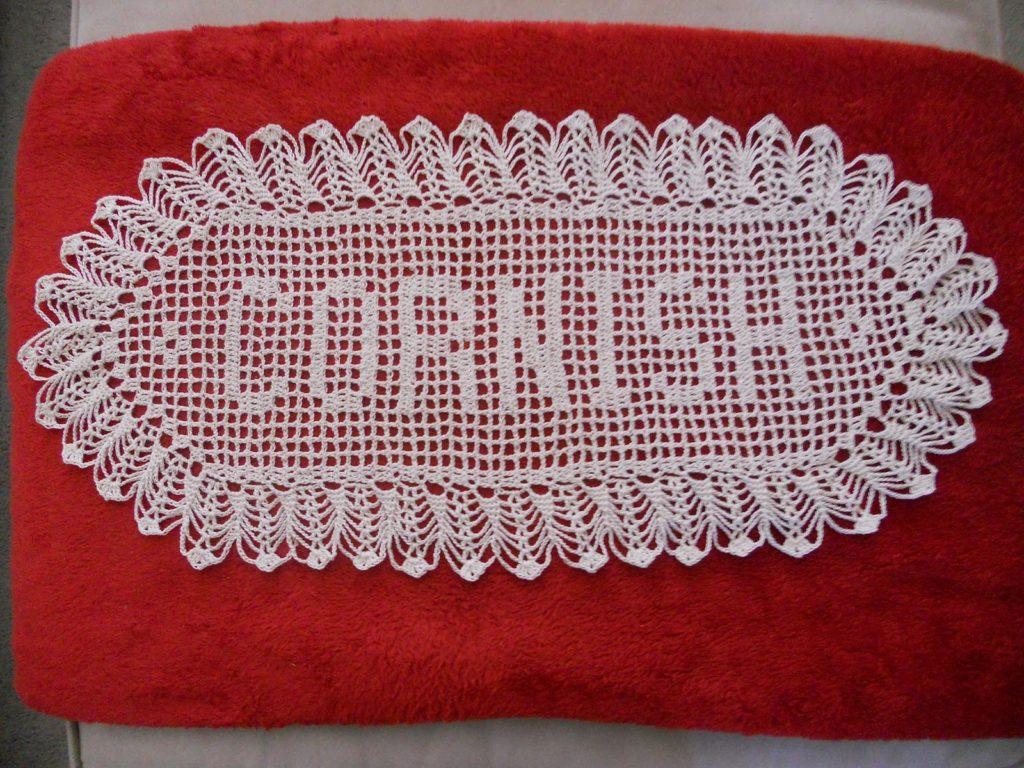 Filet Crochet Name Doily Pattern