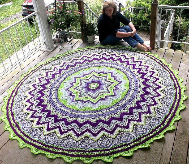 Mandala Floor Doily Rug Crochet Pattern