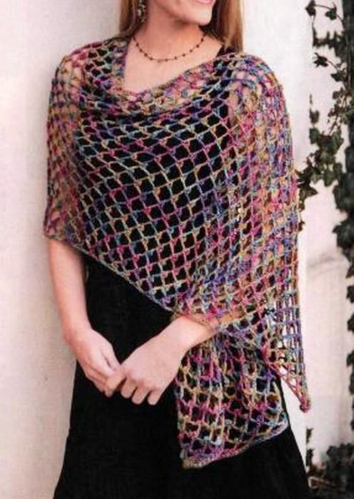 Simple Crochet Shawl for Beginners