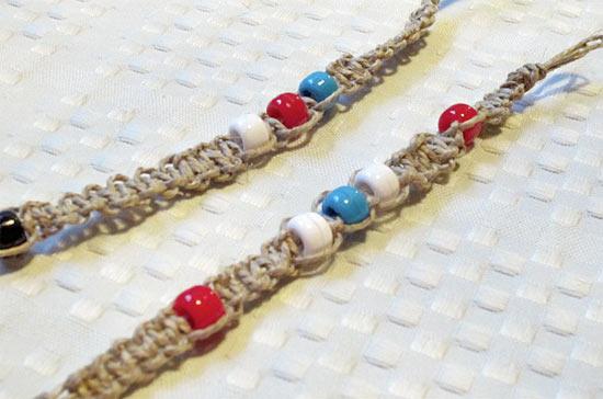 Hemp Bracelet with Knots