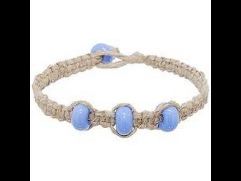 Hemp Bracelet with Straight Knots