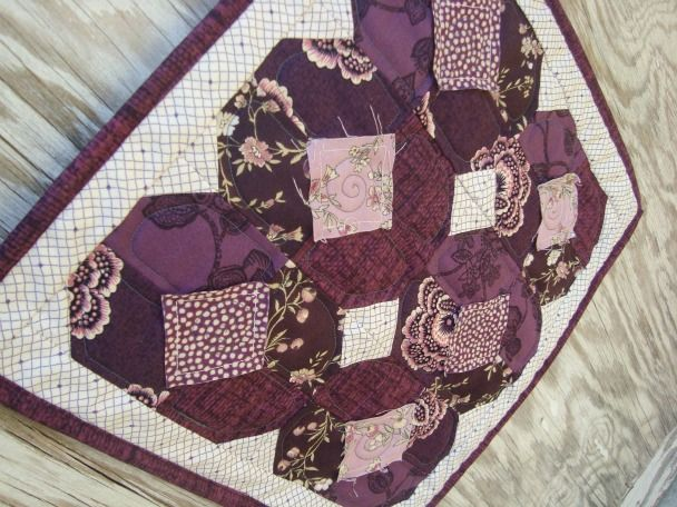 Little Purple Pansies Doll Quilt