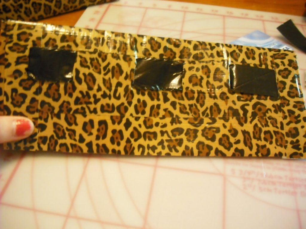 Animal Print Duct Tape Purse