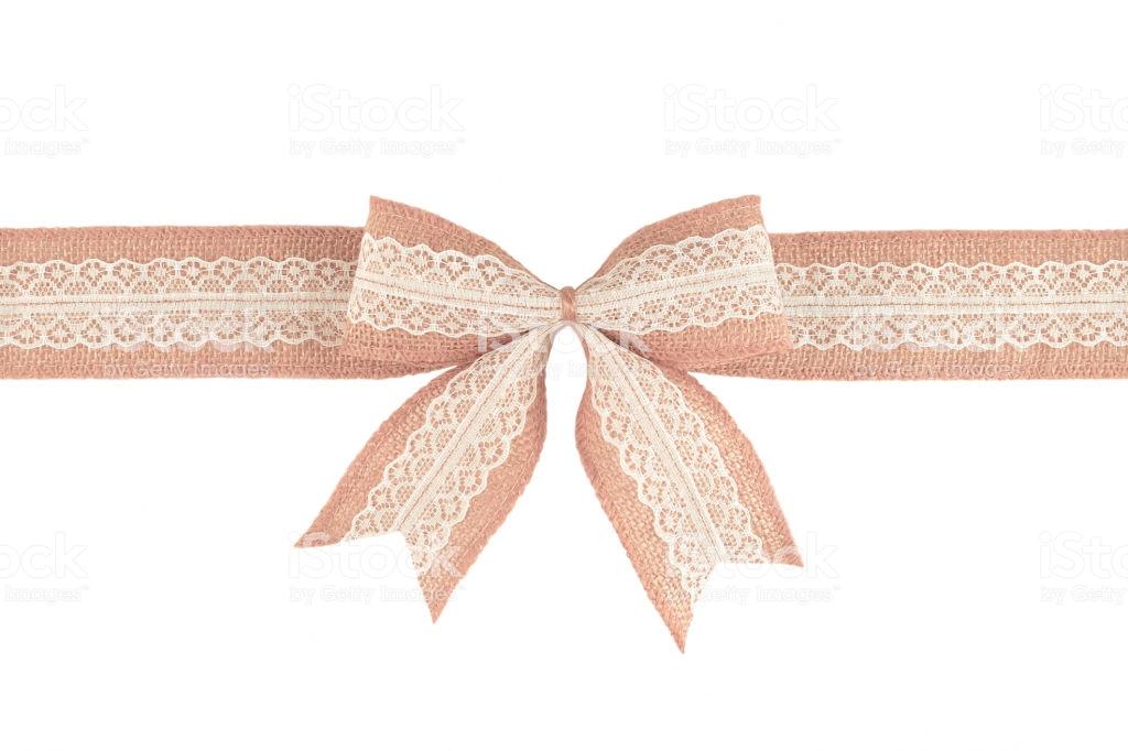 Burlap Ribbon Bow