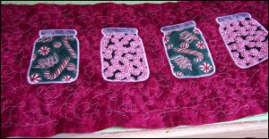 Quilted Table Runner - Candy Jars