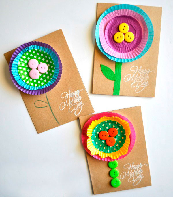 Cupcake Holders Flower for Mother's Day