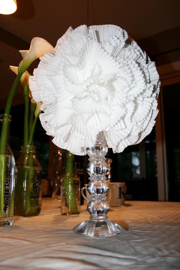 Cupcake Liner Flower Lights