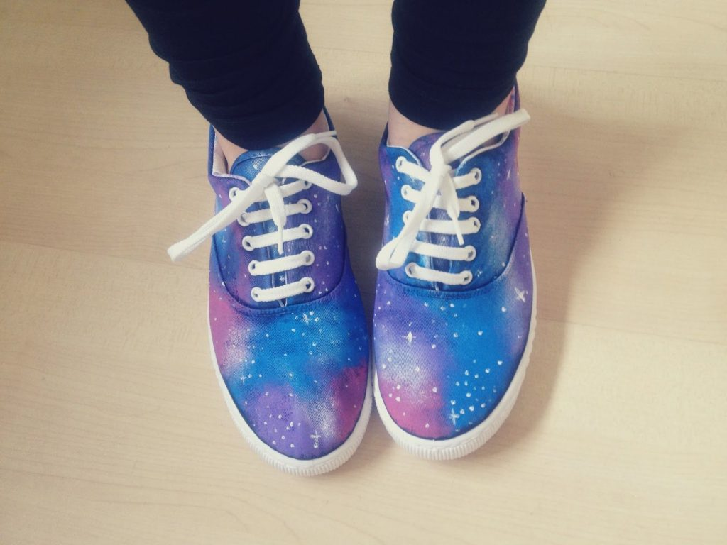 DIY Galaxy Print Shoes