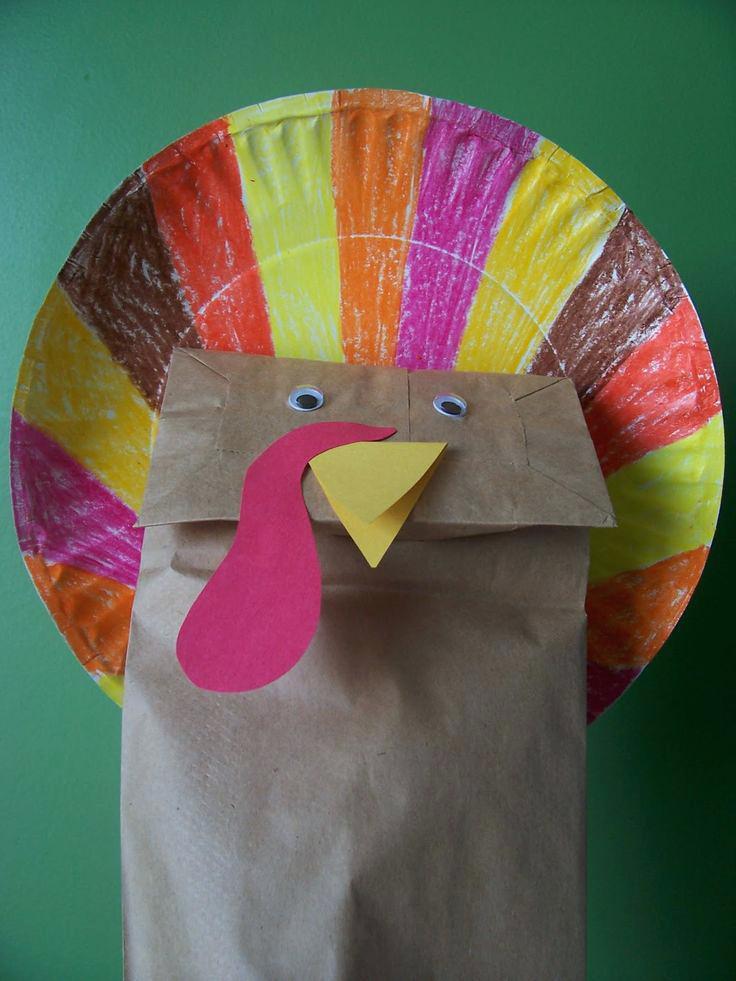 DIY Paper Bag Turkey for Kindergarten