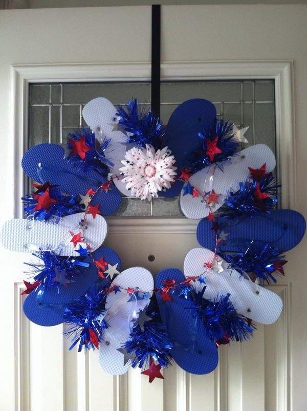 Flip Flop Christmas Wreath
