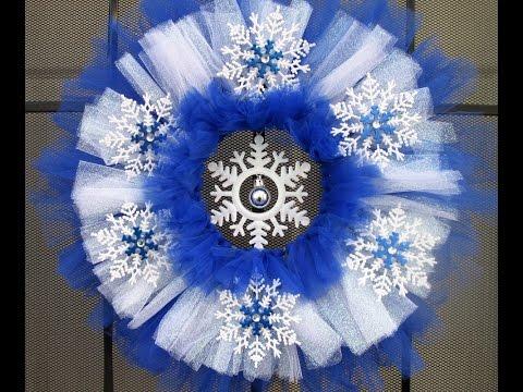 Frozen Themed Tulle Wreath