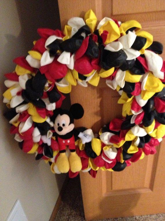 Mickey Mouse Balloon Wreath