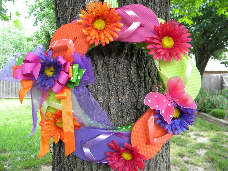 Outdoor Flip Flop Wreath