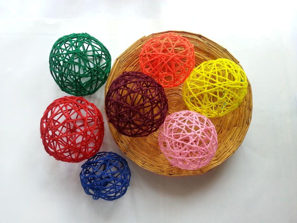 Paper Mache Yarn Lanterns