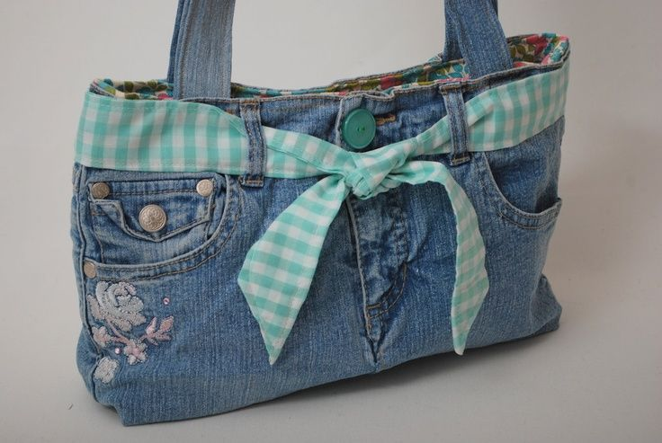 Recycled Jean Purse Craft
