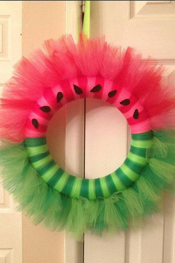 Summer Door Tulle Wreath Idea