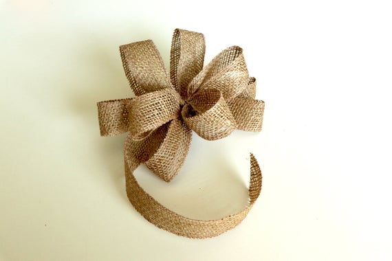Wired Burlap Bow