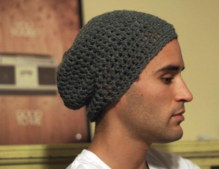 Mens Slouchy Hat Crochet Free Pattern