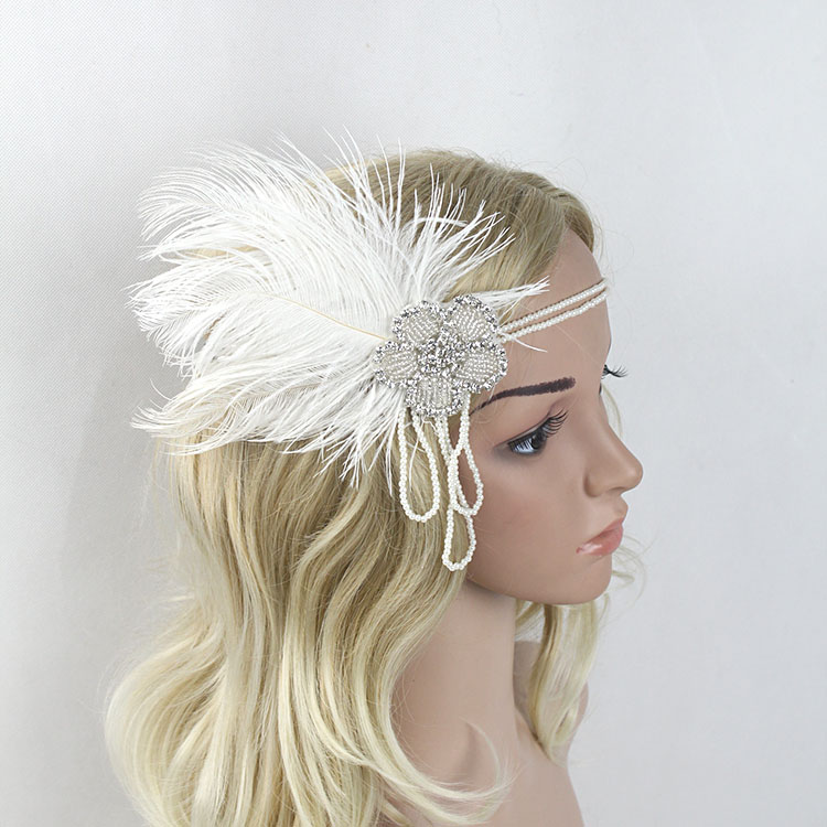 1920s Headband with Feathers