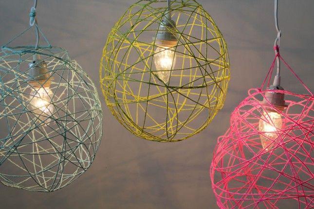 DIY Yarn Lantern