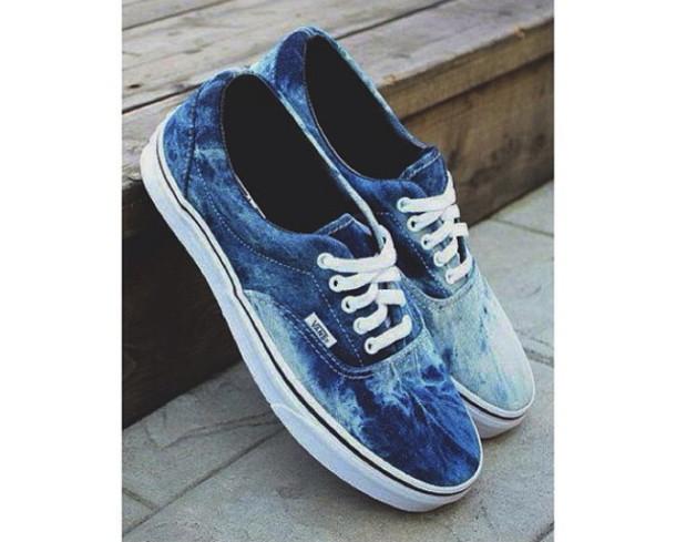 Blue Tie Dye Shoes