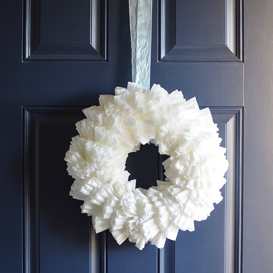Coffee Filter Wreath Craft